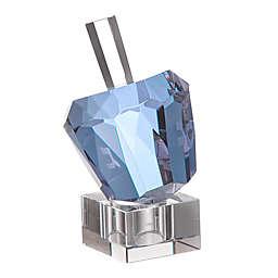 Diamond Solitaire Shaped Lavender Crystal Hanukkah Dreidel