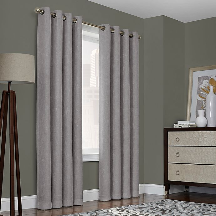 Alternate image 1 for Quinn 72-Inch Grommet Top 100% Blackout Window Curtain Panel in Gray (Single)