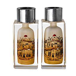 Golden Jerusalem Crystal Candlesticks (Set of 2)