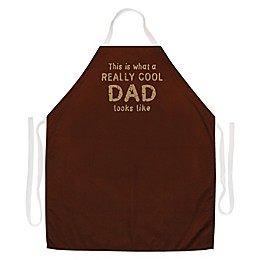 "L.A. Imprints ""Really Cool Dad"" Novelty Apron in Brown"