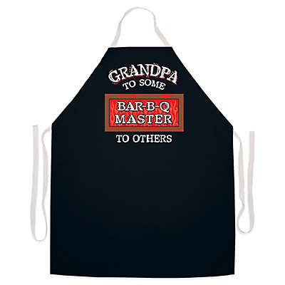 "L.A. Imprints ""Grandpa Bar-B-Q Master"" Novelty Apron in Black"