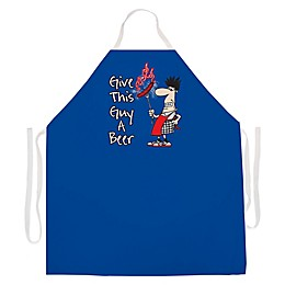 "L.A. Imprints ""Give this Guy a Beer"" Novelty Apron in Royal Blue"
