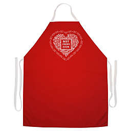 """L.A. Imprints """"Best Mom Ever"""" Novelty Apron in Red"""