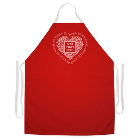 """L.A. Imprints """"Best Mom Ever"""" Novelty Apron in Red   Bed Bath & Beyond"""