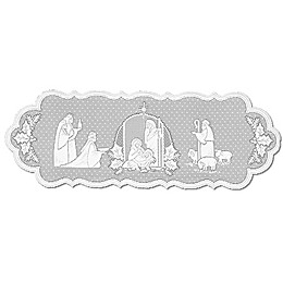 Heritage Lace® Silent Night 41-Inch Table Runner in White