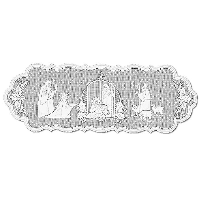 Alternate image 1 for Heritage Lace® Silent Night 41-Inch Table Runner in White
