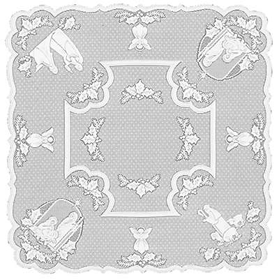 Heritage Lace® Silent Night 45-Inch Table Topper in White