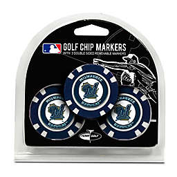 MLB Milwaukee Brewers Golf Chip Ball Markers (Set of 3)