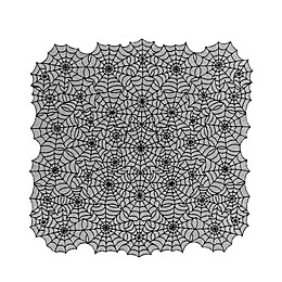 Heritage Lace® Spider Web 60-Inch Table Topper in Black