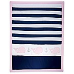 Nautica Kids® Mix & Match Striped Whale Comforter in Navy/Pink