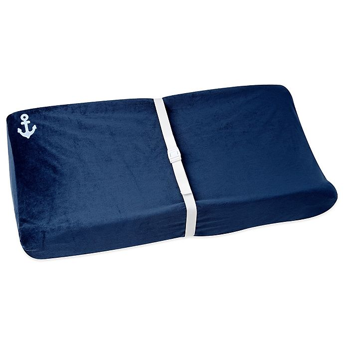 Alternate image 1 for Nautica Kids® Mix & Match Velboa Changing Pad Cover in Navy