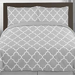 Sweet Jojo Designs Trellis Bedding Collection in Grey/White