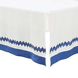 Petit Nest™ Micha Chevron Bed Skirt in Blue/White