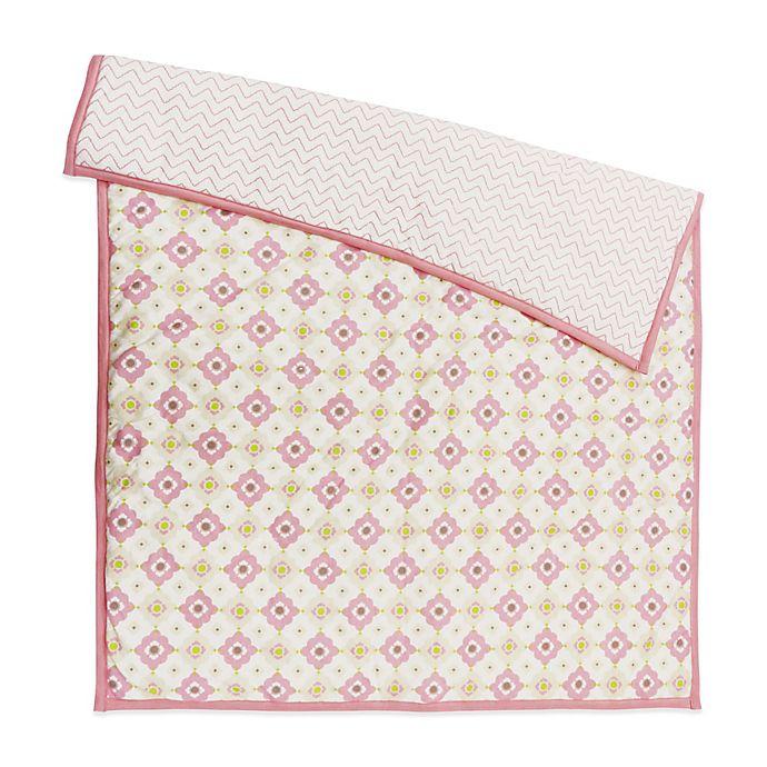 Alternate image 1 for Petit Nest™ Penelope Multi-Flower Reversible Coverlet