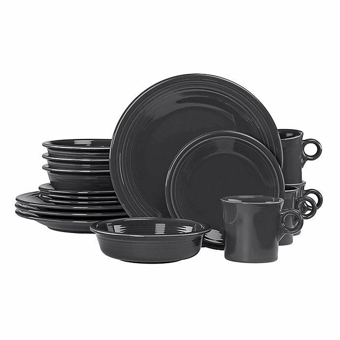 Alternate image 1 for Fiesta® 16-Piece Dinnerware Set in Slate