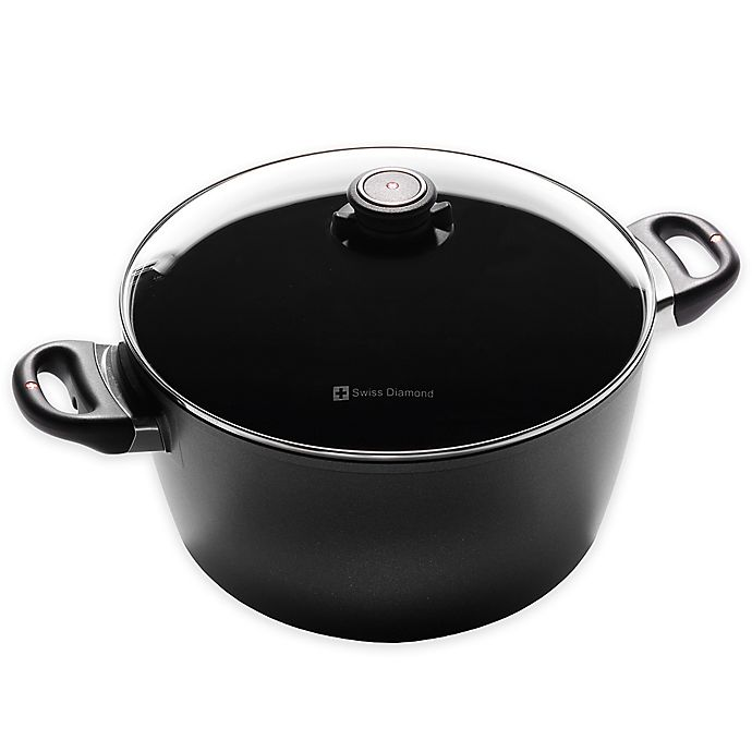 Swiss Diamond 8 5 Qt Induction Nonstick Stock Pot With Lid Bed Bath Beyond