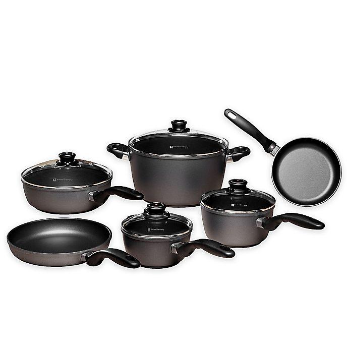 Alternate image 1 for Swiss Diamond® Nonstick 10-Piece Ultimate Kitchen Cookware Kit