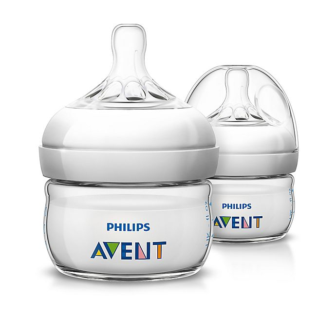 Alternate image 1 for Philips Avent 2-Pack 2 oz. Natural Baby Bottles