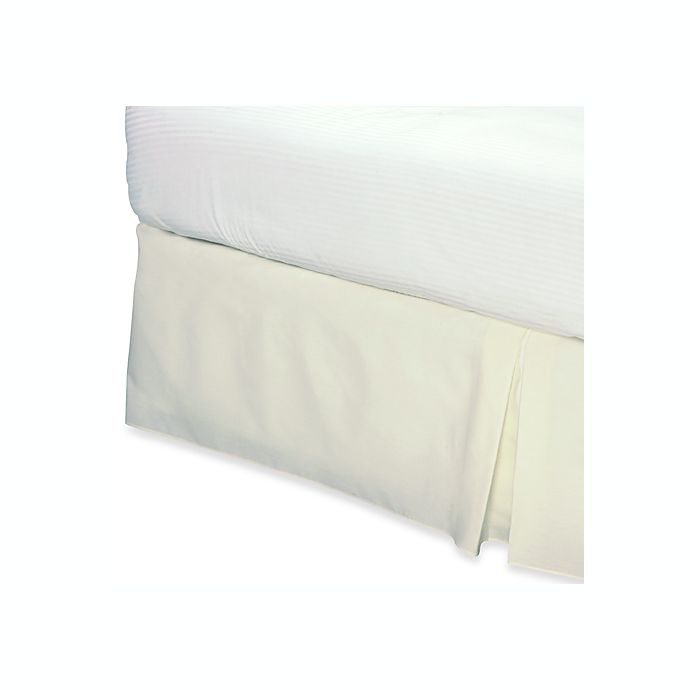 Alternate image 1 for Smoothweave™ 14-Inch Tailored Twin Extra Long Bed Skirt in Ivory