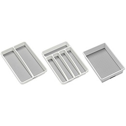 madesmart® Drawer Organizers in White/Grey
