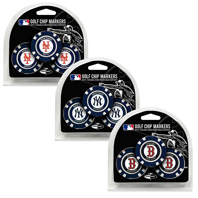 Alternate image 1 for MLB Golf Chip Ball Markers Collection (Set of 3)