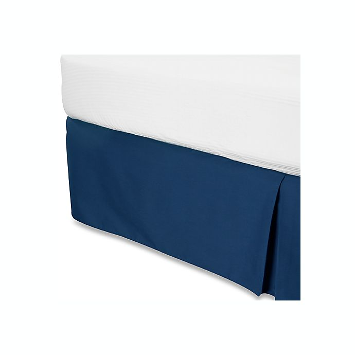 Alternate image 1 for Smoothweave™ 14-Inch Tailored California King Bed Skirt in Navy