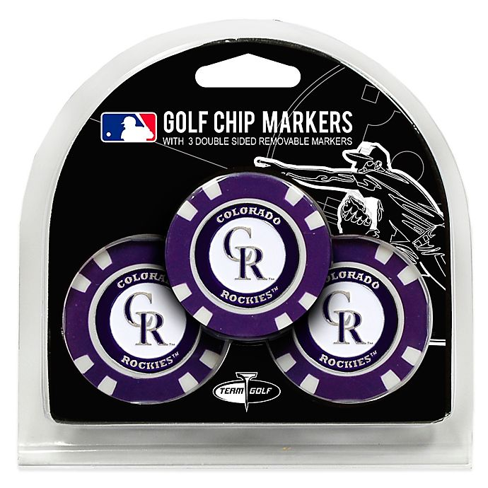 Alternate image 1 for MLB Colorado Rockies Golf Chip Ball Markers (Set of 3)