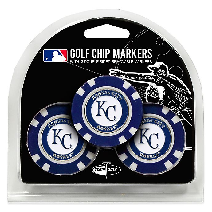 Alternate image 1 for MLB Kansas City Royals Golf Chip Ball Markers (Set of 3)