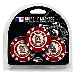 MLB St. Louis Cardinals Golf Chip Ball Markers (Set of 3)