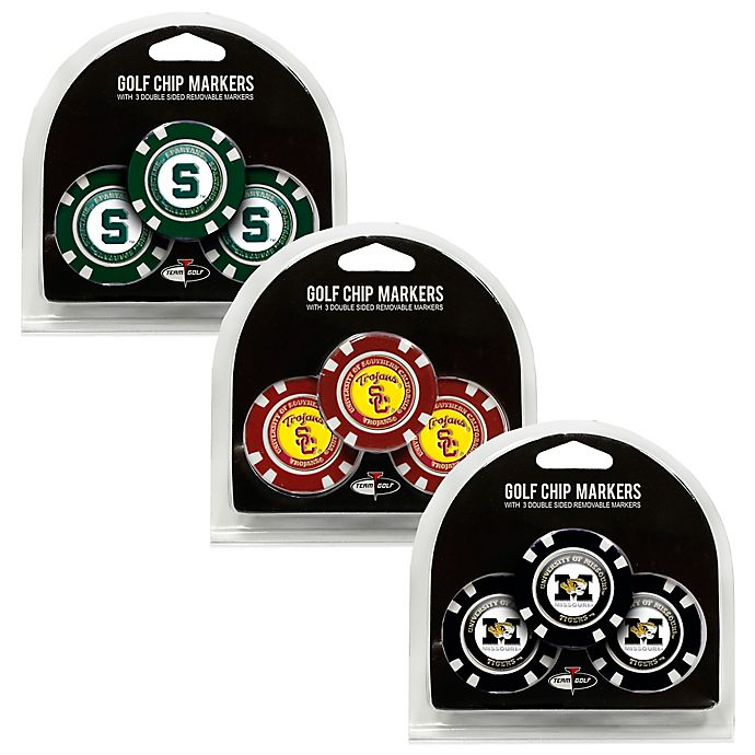 Alternate image 1 for NCAA Golf Chip Ball Markers Collection (Set of 3)