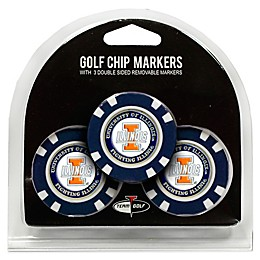 NCAA University of Illinois Golf Chip Ball Markers (Set of 3)
