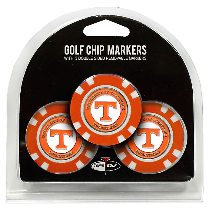 Alternate image 1 for NCAA University of Tennessee Golf Chip Ball Markers (Set of 3)