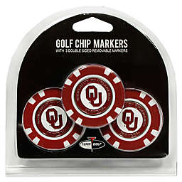 NCAA University of Oklahoma Golf Chip Ball Markers (Set of 3)