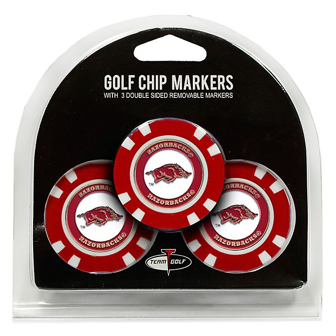 Alternate image 1 for NCAA University of Arkansas Golf Chip Ball Markers (Set of 3)