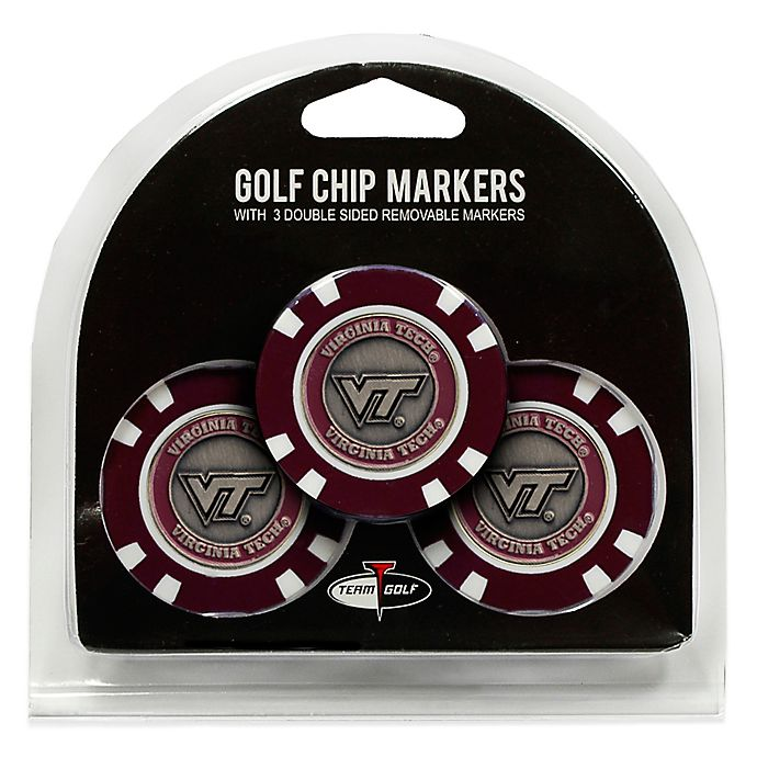 Alternate image 1 for NCAA Virginia Tech Golf Chip Ball Markers (Set of 3)