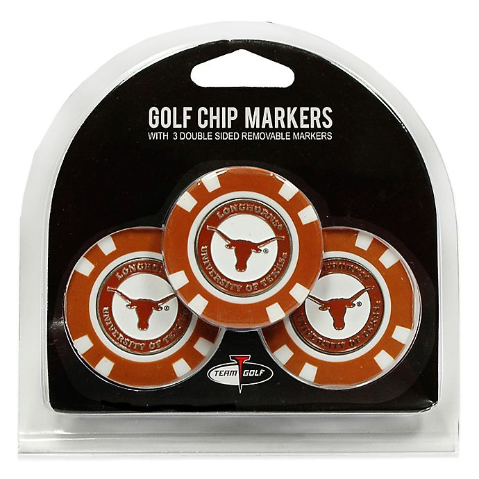 Alternate image 1 for NCAA University of Texas Golf Chip Ball Markers (Set of 3)