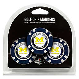 NCAA University of Michigan Golf Chip Ball Markers (Set of 3)
