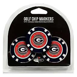 NCAA University of Georgia Golf Chip Ball Markers (Set of 3)