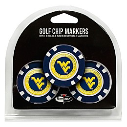 NCAA West Virginia University Golf Chip Ball Markers (Set of 3)