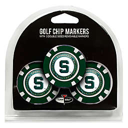 NCAA Michigan State University Golf Chip Ball Markers (Set of 3)