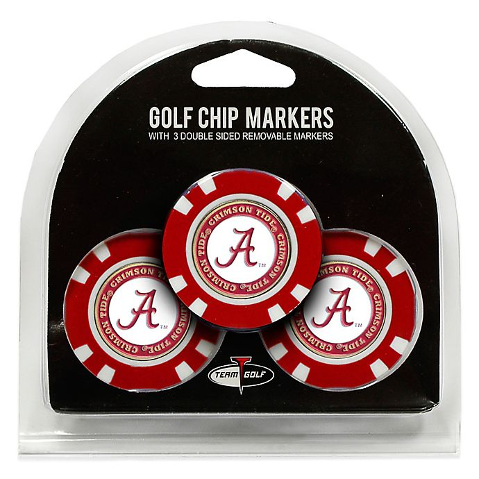Alternate image 1 for NCAA University of Alabama Golf Chip Ball Markers (Set of 3)