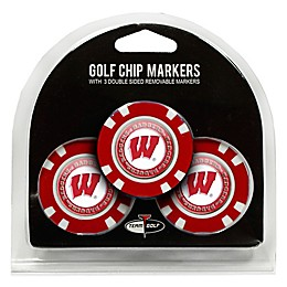 NCAA University of Wisconsin Golf Chip Ball Markers (Set of 3)