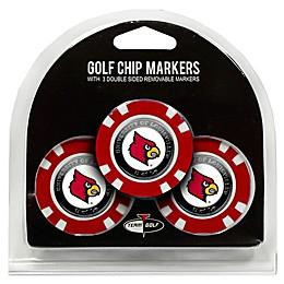 NCAA University of Louisville Golf Chip Ball Markers (Set of 3)