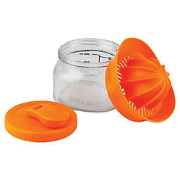Barbuzzo Glass 10 oz. Mason Juicer in Orange