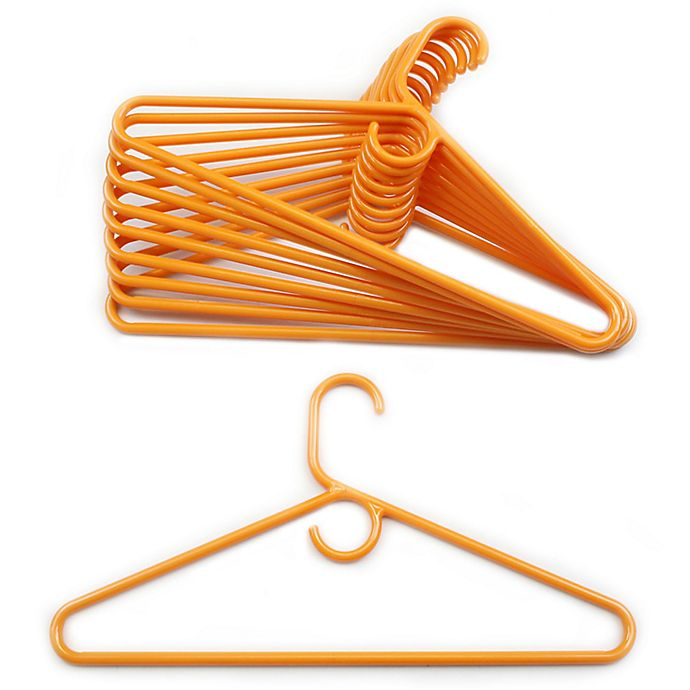 Alternate image 1 for Merrick 72-Count Value Pack Heavyweight Hangers in Orange