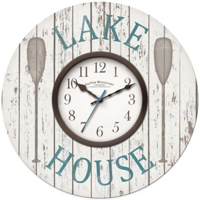 Firstime 174 Lake House Wall Clock Bed Bath And Beyond Canada