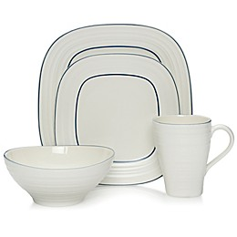 Mikasa® Swirl Square Banded Dinnerware Collection in Blue