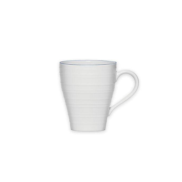 Alternate image 1 for Mikasa® Swirl Square Banded Mug in Blue