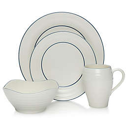 Mikasa® Swirl Banded 4-Piece Place Setting in Blue