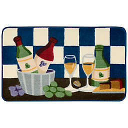 Nourison 2-Foot 6-Inch x 1-Foot 6-Inch Wine Kitchen Rug